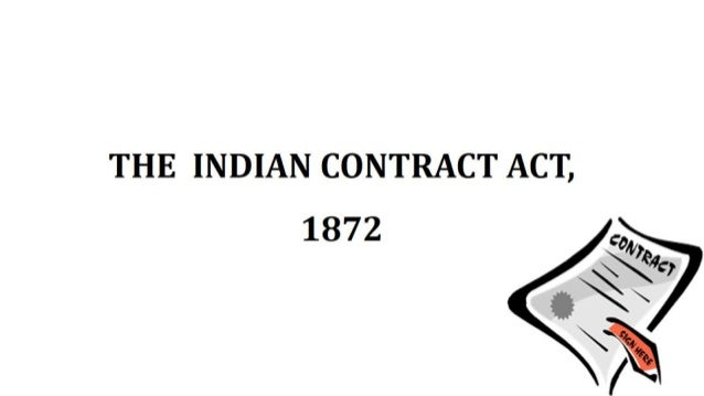 Indian Contract Act 1872   Contract Law