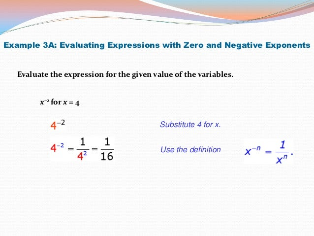 Integral Exponents – Evaluating Exponents Worksheet