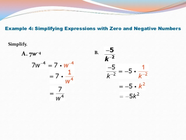 Integral Exponents – Simplifying Expressions with Exponents Worksheet