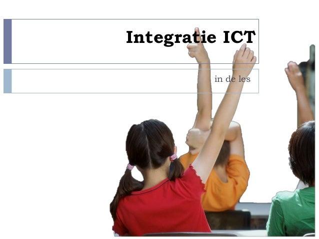 Integratie ICT in de les