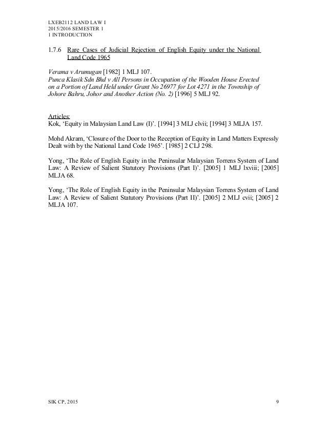 land law in malaysia pdf