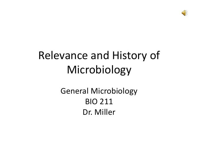 Relevance and History ofMicrobiologyGeneral MicrobiologyBIO 211Dr. Miller