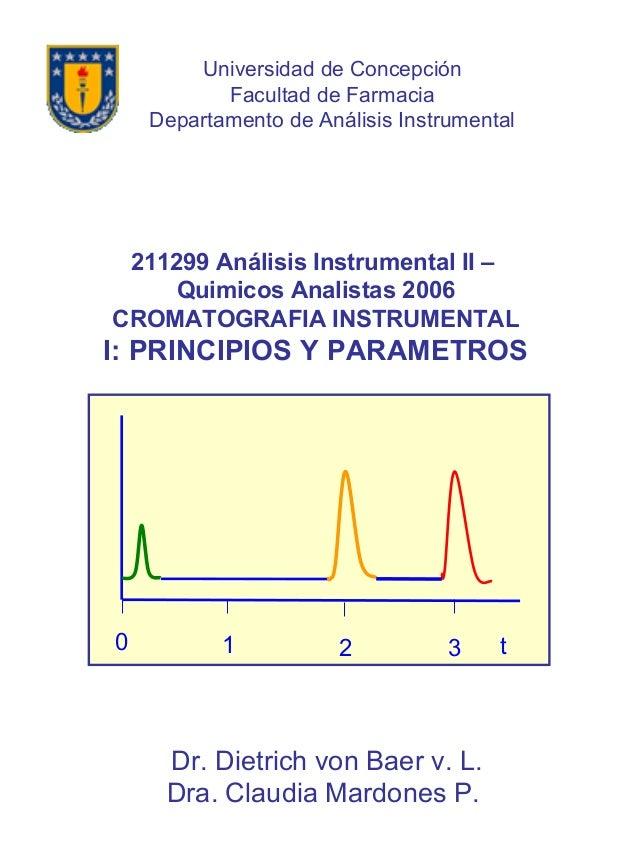 t0 1 2 3 211299 Análisis Instrumental II – Quimicos Analistas 2006 CROMATOGRAFIA INSTRUMENTAL I: PRINCIPIOS Y PARAMETROS D...