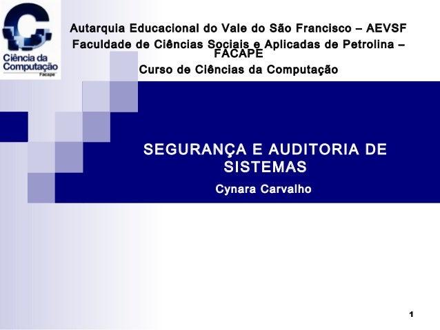 1 Autarquia Educacional do Vale do São Francisco – AEVSF Faculdade de Ciências Sociais e Aplicadas de Petrolina – FACAPE C...