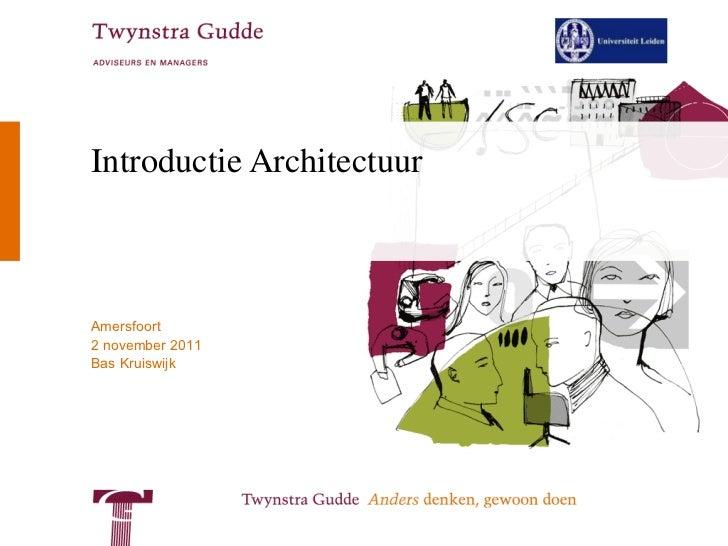 Introductie Architectuur