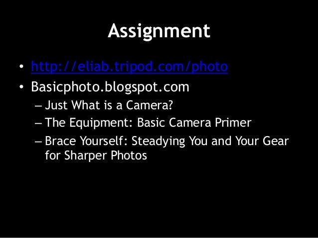 Session 1 Introduction (Basic Photography) Slide 2