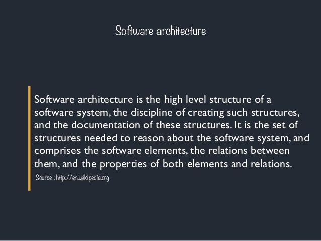 Architecture logicielle 1 introduction for Architecture logicielle