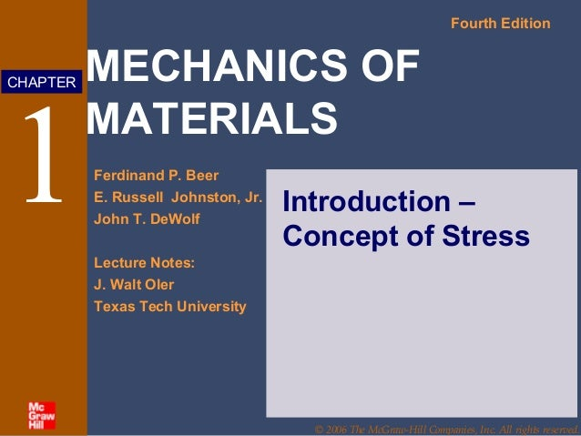1 introduction mechanics of materials 4th beer rh slideshare net Manual Agriculture Car Service and Repair Manuals