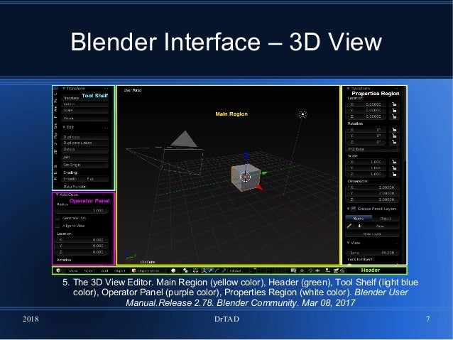 DrTAD 1 Introduction to Blender software  Interface