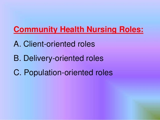 introduction to community health nursin Theories applied in community health nursing this page was last updated on january 30, 2012 introduction  the concept of community is defined as a group of people who share some important feature of their lives and use some common agencies and institutions the concept of health is defined as a balanced state of well-being.