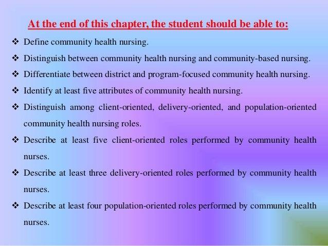 community oriented nursing definition