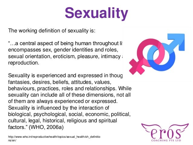 Definition of sexuality according to who