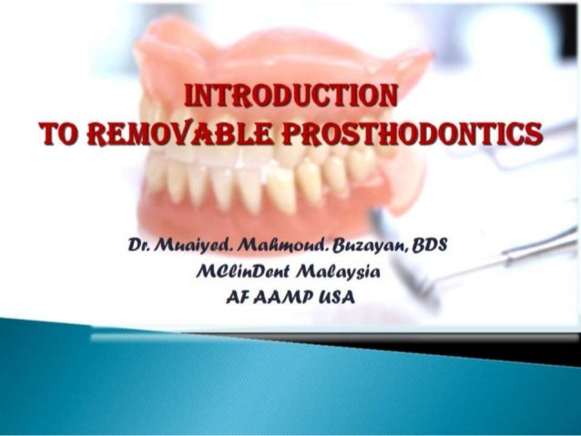 1 introduction to complete denture