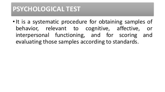 intro to psychological testing 1 psychological testing: introduction cal state northridge ψ427 andrew ainsworth phd questions you'll encounter what is a psychological test.