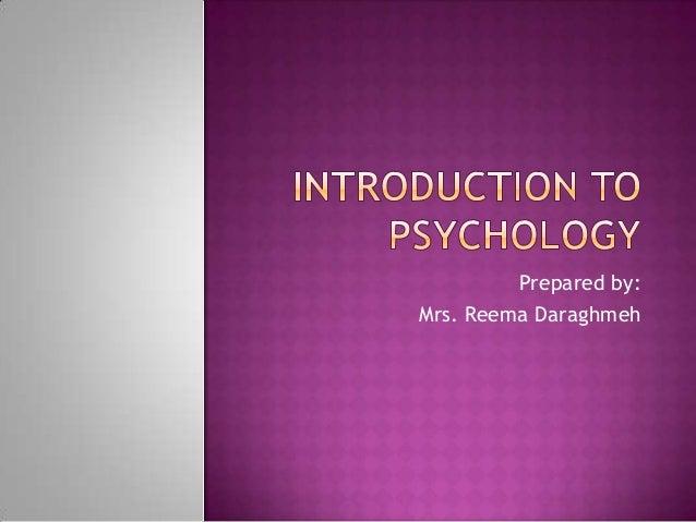 Prepared by: Mrs. Reema Daraghmeh