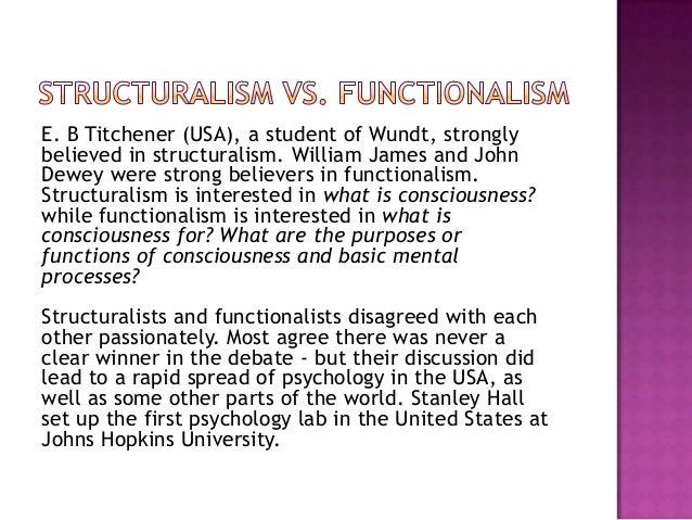 Functionalism Psychology Example