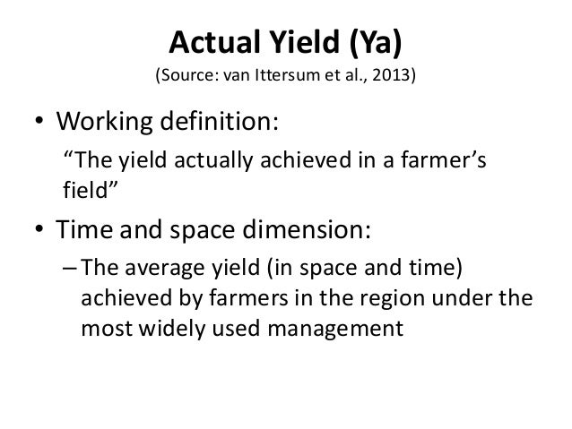 1 Introduction to yield gap analysis