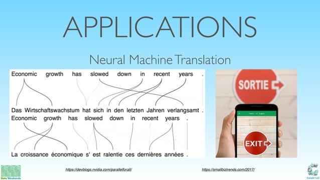 Catalit LLC APPLICATIONS Neural MachineTranslation https://devblogs.nvidia.com/parallelforall/ https://smallbiztrends.com/...