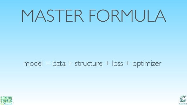 Catalit LLC MASTER FORMULA model = data + structure + loss + optimizer
