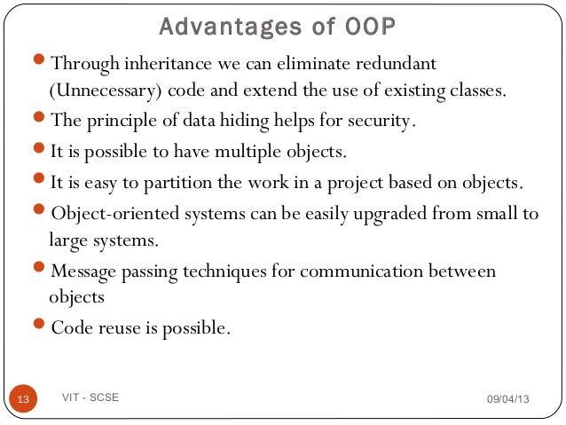 object driven programs advantages