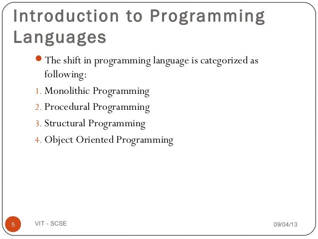 introduction to object oriented programming Cpsc 233: introduction to object-oriented programming james tam an example of the procedural approach •break down the program by what it does (described with.