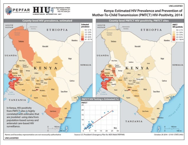Estimated HIV Prevalence in Eastern Cape, South Africa 2014 Supply and distribution of health clinics meeting demand?