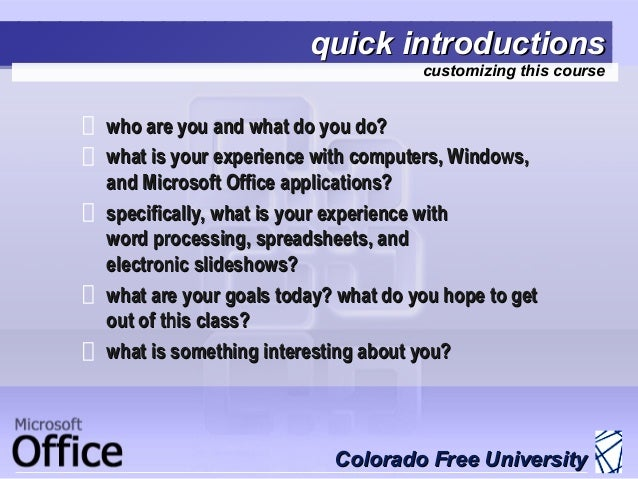 Introduction to Microsoft Office (2007)