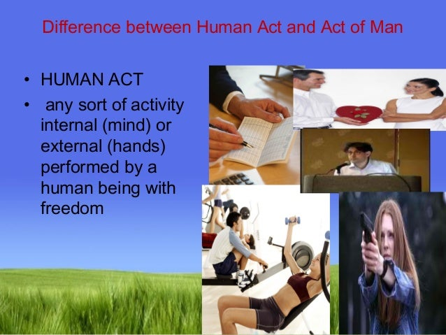 What Is an Example of a Human Act?