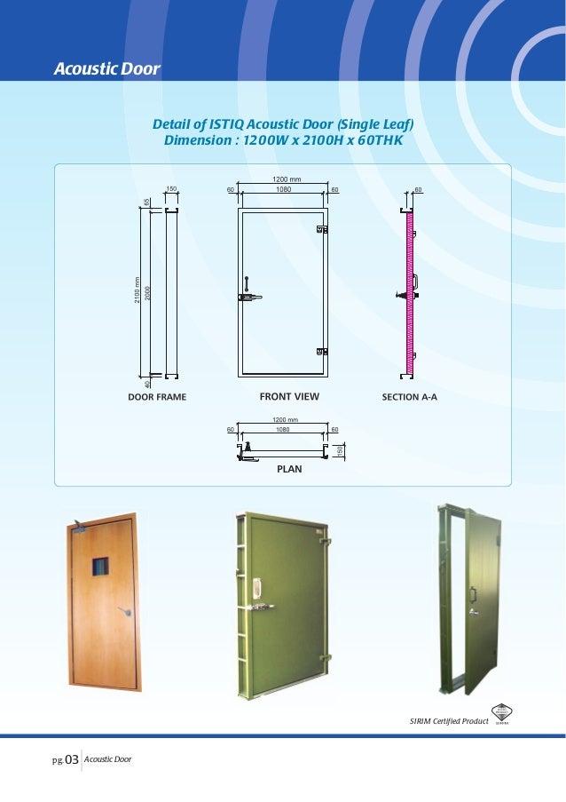SIRIM Certified Product; 5. Detail of ISTIQ Acoustic Door ...  sc 1 st  SlideShare & Istiq acoustic door
