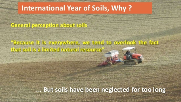 Outcomes of the international year of soils for Soil 2 year pgdm