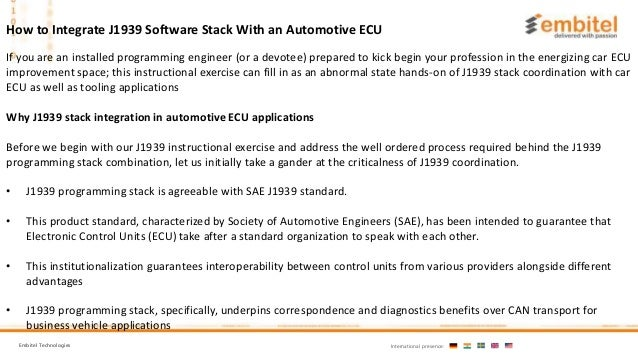 J1939 Software Stack With an Automotive ECU: : A Step-by-Step Tutorial