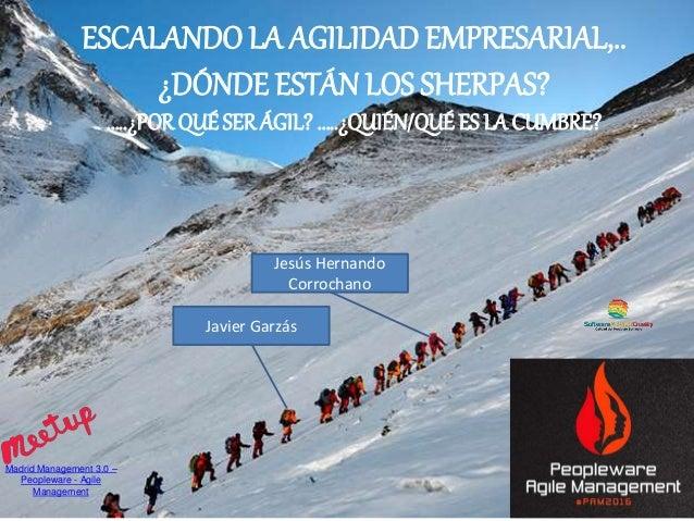TI bimodal: Dos velocidades Gestión del Talento Equipos Ágiles ESCALANDO LA AGILIDAD EMPRESARIAL,.. ¿DÓNDE ESTÁN LOS SHERP...