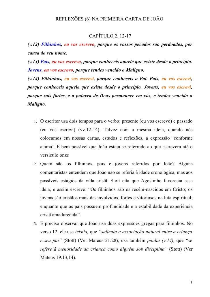 1 João Reflexões (6) 2.12-17