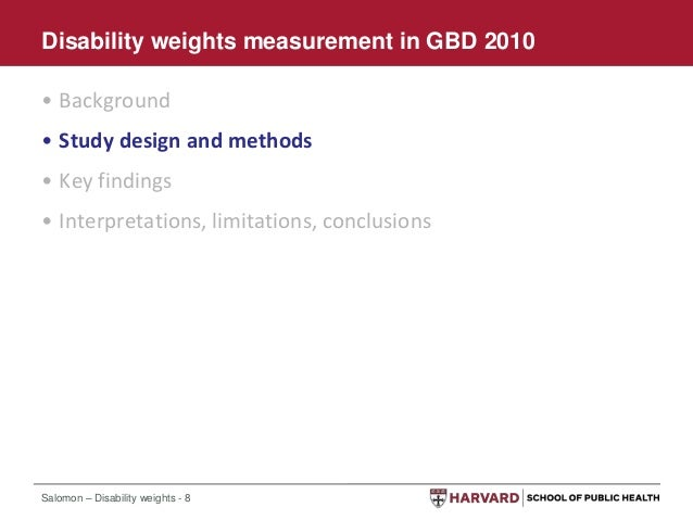 Disability weights measurement in the global burden of for Household survey questionnaire design