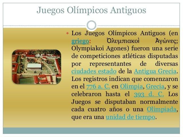 1 Juegos Olimpicos En La Antigua Grecia