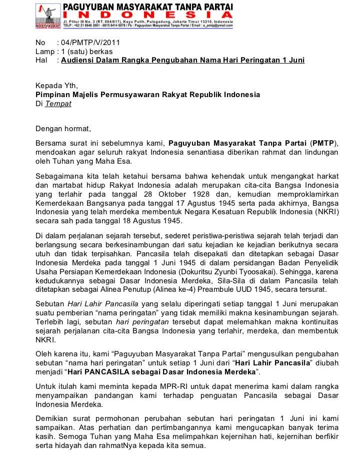 Press Release 1 Juni Adalah Hari Pancasila Ditetapkan