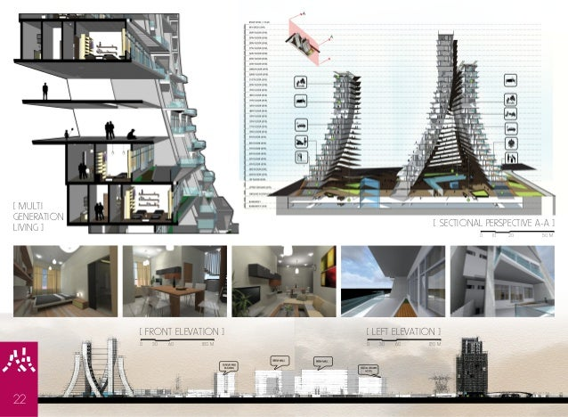 Floor Plan Elevation Perspective : Jf lau architecture portfolio