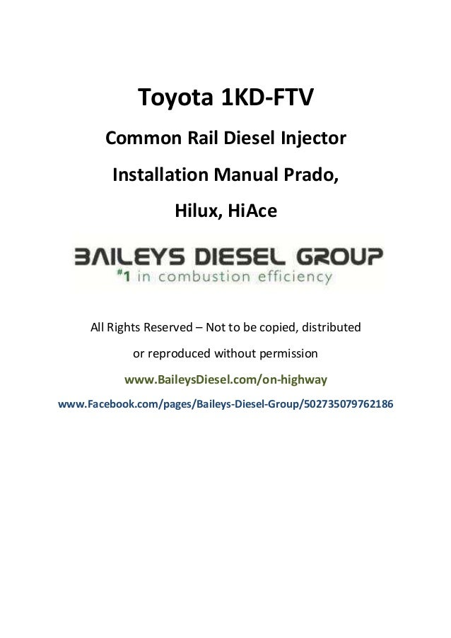 toyota 1kd ftv common rail diesel injector installation manual rh slideshare net 2G DSM ECU Pinout BMW E46 Stereo Wiring Diagram