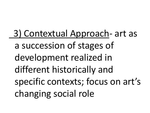 contextual way of thinking art definition