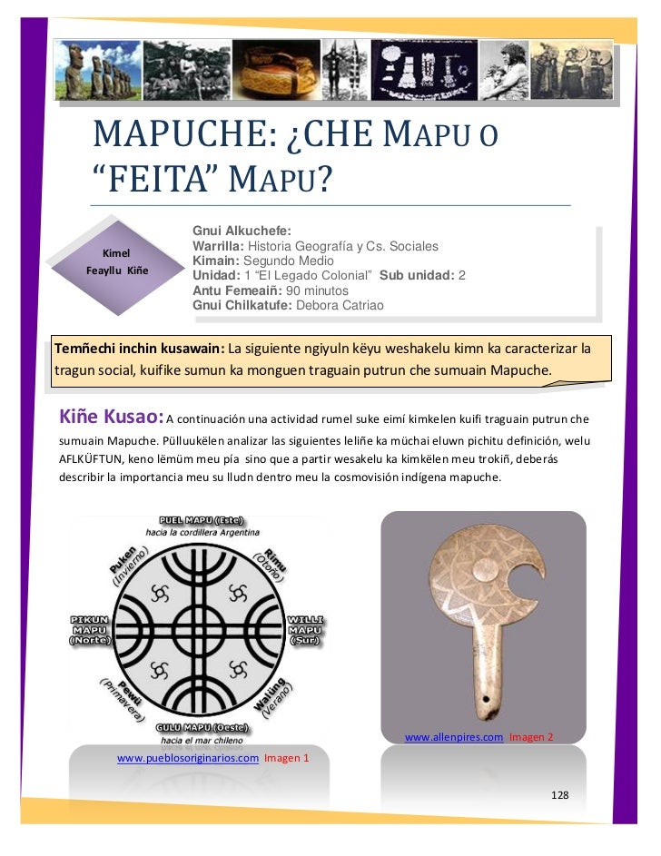 "MAPUCHE: ¿CHE MAPU O      ""FEITA"" MAPU?                         Gnui Alkuchefe:                         Warrilla: Historia..."