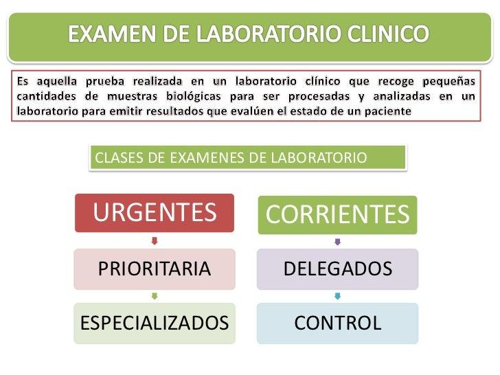 CLASES DE EXAMENES DE LABORATORIO URGENTES            CORRIENTES PRIORITARIA           DELEGADOSESPECIALIZADOS           C...