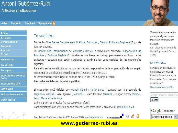 La red en las campañas electorales Slide 2
