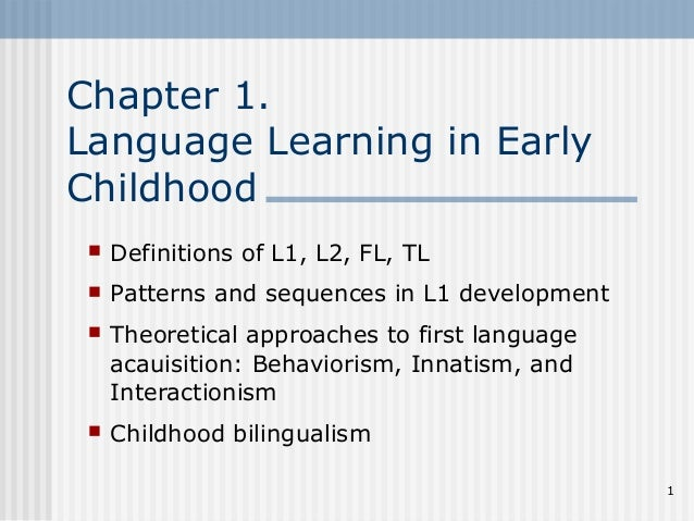 language and literacy in early childhood Language and literacy development in early childhood language and literacy development in early childhood provides educators with an integrated approach to language.