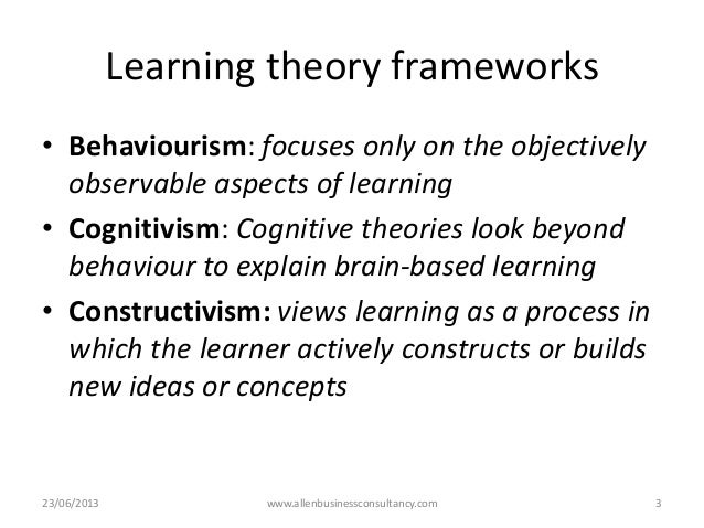 1 learning theory & psychology