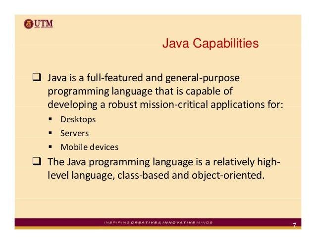 java programming language introduction to java programming