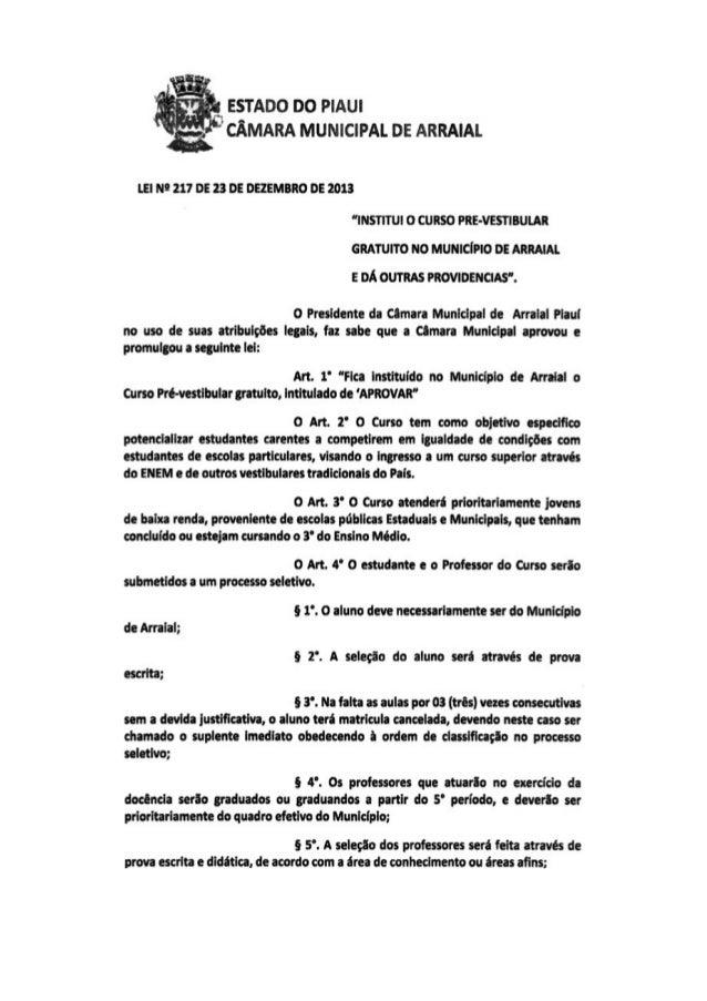 1ª lei de iniciativa popular da história de arraial entra em vigor