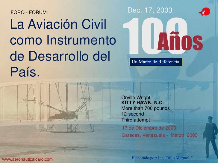 Febrero 2003<br />1<br />Orville Wright <br />KITTY HAWK, N.C. –<br />More than 700 pounds<br />12-second <br />Third atte...