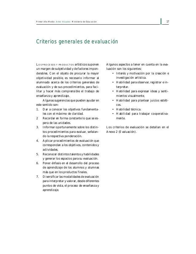 19Primer Año Medio Artes Visuales Ministerio de Educación Unidad 1 Conociendo las características visuales del paisaje nat...