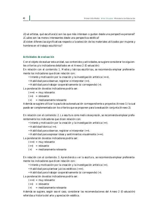 Primer Año Medio Artes Visuales Ministerio de Educación42 1. Imágenes de la contaminación Percepción estética de la contam...