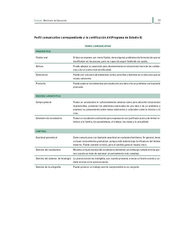Francés Ministerio de Educación18 PROGRAMACIÓN DE LAS SESIONES DE EXÁMENES Cada año, se organizará una sesión escolar de e...